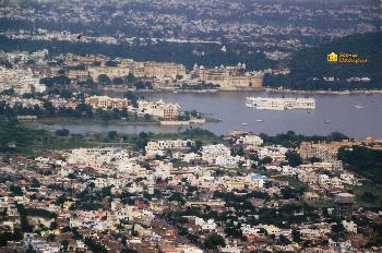 Panoramic view of Udaipur.